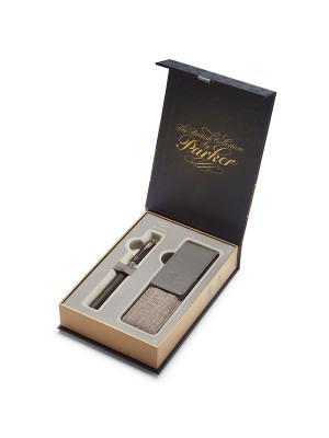 Набор Ручка 5th mode INGENUITY Large Black Rubber Metal СT+чехол д/ручки Parker. Цвет: черный, серый