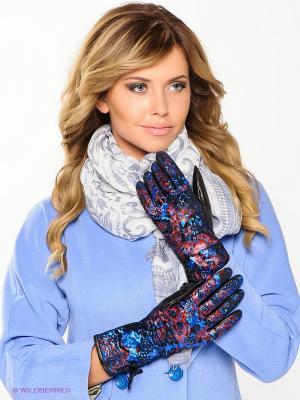 Перчатки Eleganse. Цвет: синий, черный