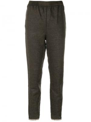 Строгие брюки с завышенной талией Cherevichkiotvichki. Цвет: зелёный