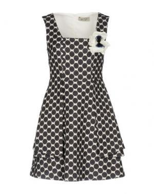 Короткое платье KI6? WHO ARE YOU?. Цвет: темно-коричневый