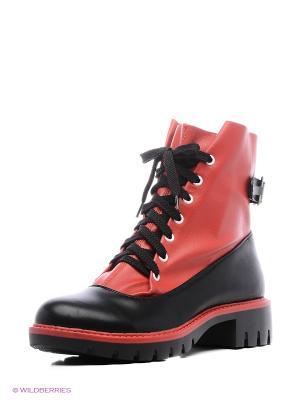 Ботинки Wilmar. Цвет: черный, красный