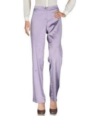 Повседневные брюки DANIELA DREI. Цвет: сиреневый