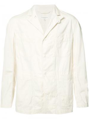 Пиджак с застежкой на три пуговицы Engineered Garments. Цвет: белый