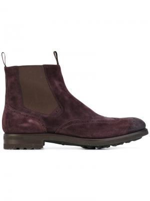 Ботинки Bologna Santoni. Цвет: розовый и фиолетовый