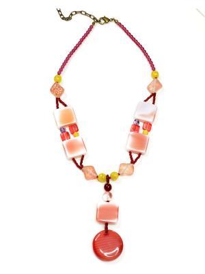 Ожерелье Bohemia Style. Цвет: светло-коралловый
