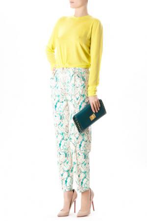 Хлопковые брюки с принтом Vika Gazinskaya. Цвет: none