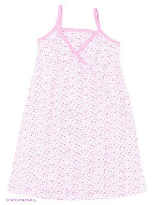 Ночная сорочка для беременных и кормящих Hunny Mammy. Цвет: розовый, белый