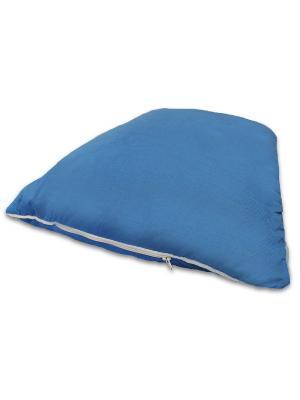 Подушка Эко-сон с антимикробной тканью SMART-TEXTILE. Цвет: синий