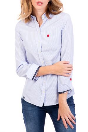 Рубашка POLO CLUB С.H.A.. Цвет: голубой