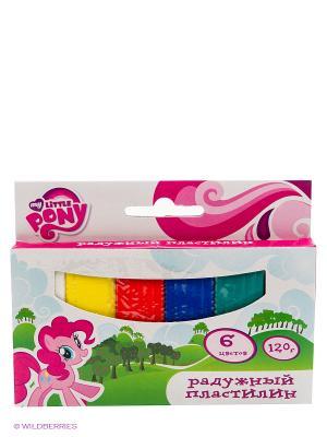 Классический восковый пластилин  my little pony 6 цветов Multiart. Цвет: розовый