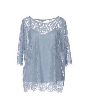 Блузка FALCON & BLOOM. Цвет: небесно-голубой