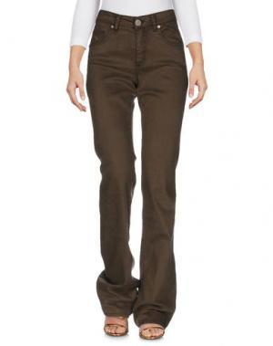 Джинсовые брюки MARANI JEANS. Цвет: зеленый-милитари
