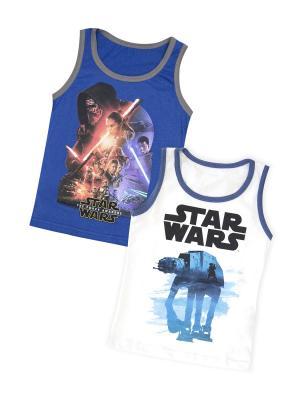 Майка Star Wars. Цвет: синий, белый