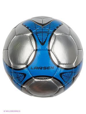 Мяч футбольный Axeler Larsen. Цвет: серый, черный, синий
