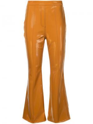 Расклешенные укороченные брюки Outlaw Ellery. Цвет: коричневый
