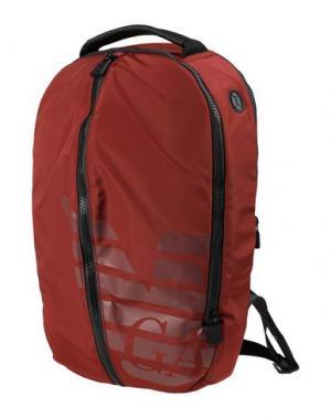 Рюкзаки и сумки на пояс EMPORIO ARMANI. Цвет: красно-коричневый