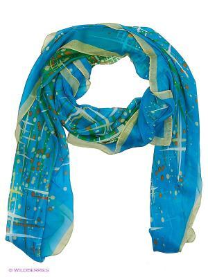 Платок женский Laura Milano. Цвет: бирюзовый, голубой, синий, зеленый