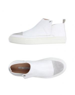 Высокие кеды и кроссовки LEA FOSCATI. Цвет: белый