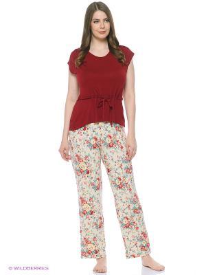 Комплект одежды Mojo Collection. Цвет: бордовый, молочный