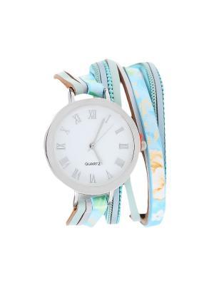 Браслет-часы Olere. Цвет: серебристый, бирюзовый, голубой