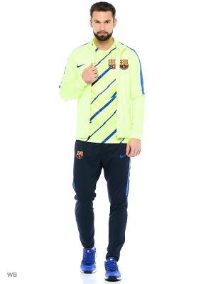 Спортивный костюм FCB M NK DRY TRK SUIT SQD K Nike. Цвет: салатовый, темно-синий