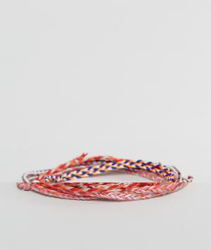 ASOS Красные плетеные браслеты. Цвет: мульти