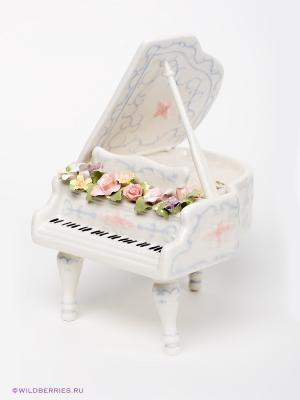 Музыкальная фигурка Рояль Pavone. Цвет: белый, розовый