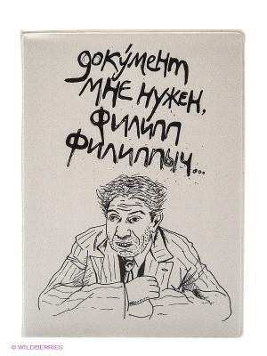 Обложка для паспорта Шариков Kawaii Factory. Цвет: светло-серый