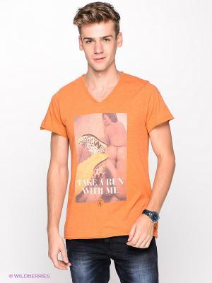 Футболка Boom Bap Wear. Цвет: оранжевый