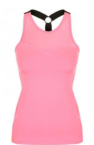 Приталенный спортивный топ Monreal London. Цвет: розовый