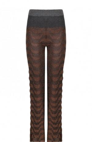 Вязаные расклешенные брюки By Malene Birger. Цвет: золотой