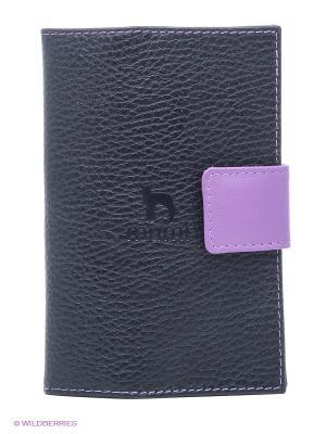 Обложка для паспорта Dimanche. Цвет: черный, сиреневый
