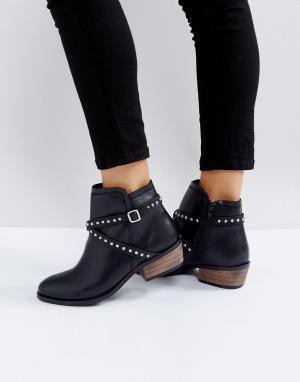 Carvela Ботинки на каблуке с заклепками - Черный 6120812