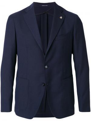 Пиджак extrafine Tagliatore. Цвет: синий