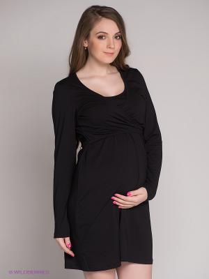 Платье Mama Licious. Цвет: черный