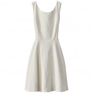 Платье короткое, без рукавов RENE DERHY. Цвет: экрю