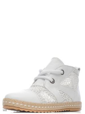 Ботинки DAKKEM. Цвет: белый