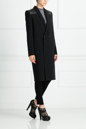 Пальто из вискозы Roland Mouret. Цвет: черный