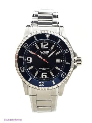 Часы Casio MTD-1053D-2A. Цвет: серебристый, темно-синий