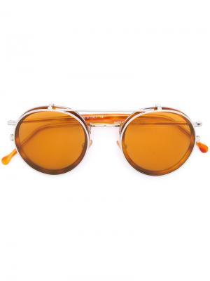 Солнцезащитные очки Ros Kyme. Цвет: коричневый