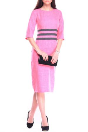 Платье MAURINI. Цвет: коралловый, графитовый