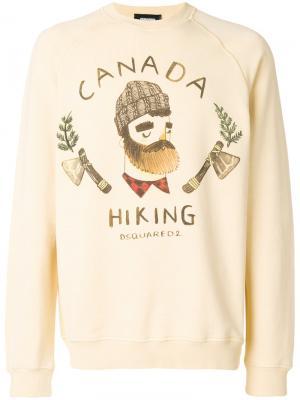 Толстовка Canada Hiking Dsquared2. Цвет: жёлтый и оранжевый