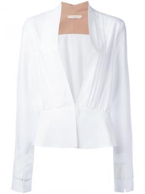 Блузка со сборками Ssheena. Цвет: белый