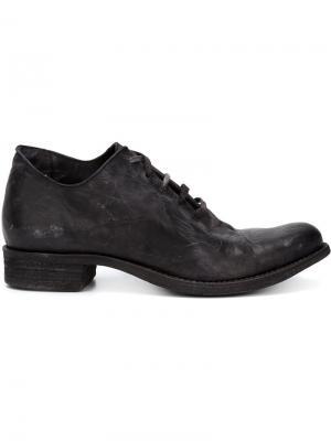 Ботинки на шнуровке с потертой отделкой A Diciannoveventitre. Цвет: чёрный