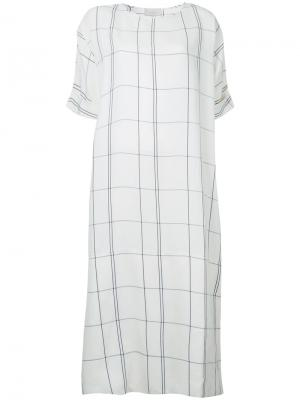 Платье в клетку Studio Nicholson. Цвет: белый