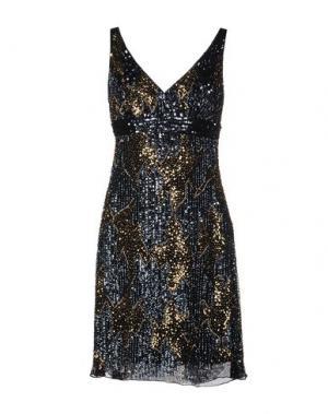 Короткое платье MUSANI COUTURE. Цвет: темно-синий