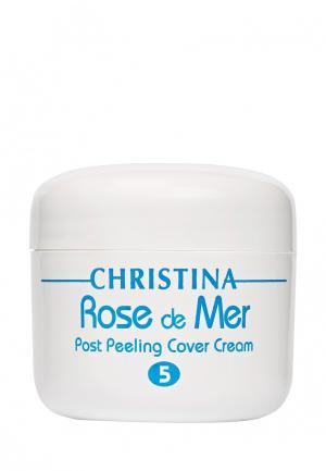 Постпилинговый тональный защитный крем «Роз де Мер» Christina. Цвет: белый