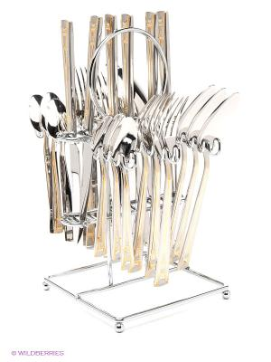 Набор столовых приборов De Luxe Bekker. Цвет: серебристый