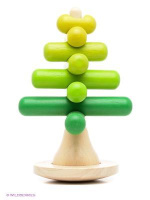 Пирамидка Дерево PLAN TOYS. Цвет: зеленый