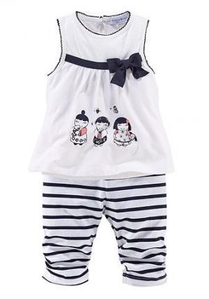 Маленькое платье и леггинсы для детей (комплект из 2 шт) KLITZEKLEIN. Цвет: белый/голубой